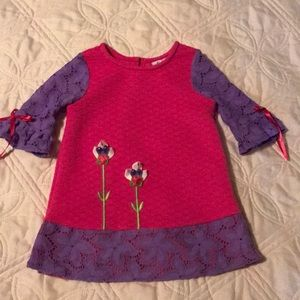 Counting Daisies dress. Pink and purple